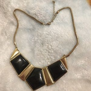 Jewelry - Vintage black and gold statement necklace